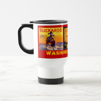 MUG~ VINTAGE WASHINGTON APPLES THREE CRATE LABELS! TRAVEL MUG