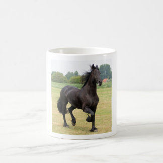 Mug with a beautiful Frisian horse