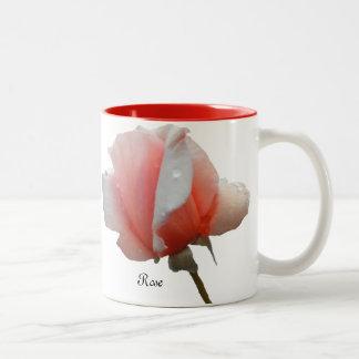 Mug with a Single Reddish Rose