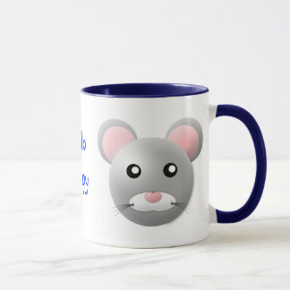 mug with animal cartoon style: mouse