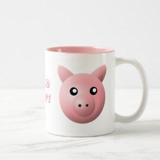 mug with animal cartoon style: pig
