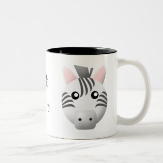 mug with animal cartoon style: zebra