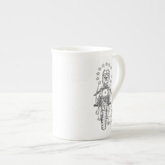 Mug with Brexit Dog Leaving Europe on a Motorcycle
