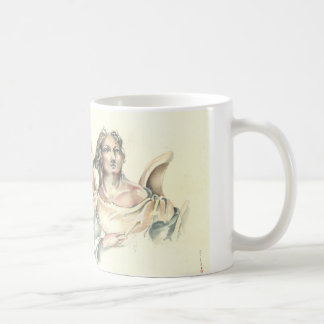 Mug with Classical Angel in watercoloures