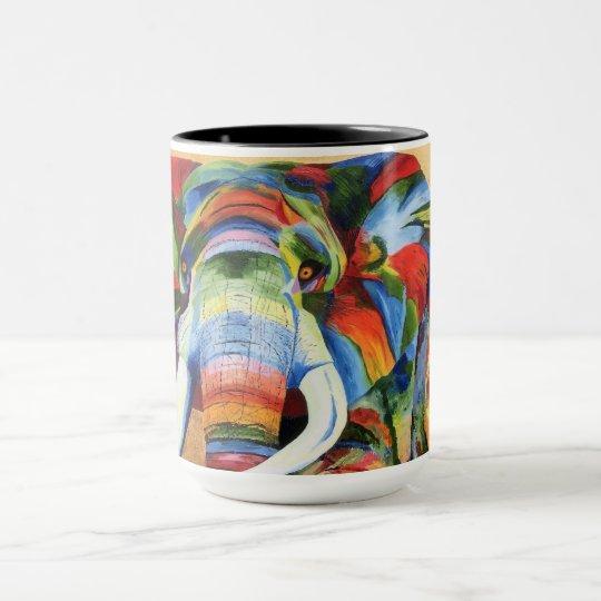 Mug with colourful Elephant design