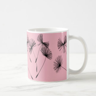 Mug with dandelion.