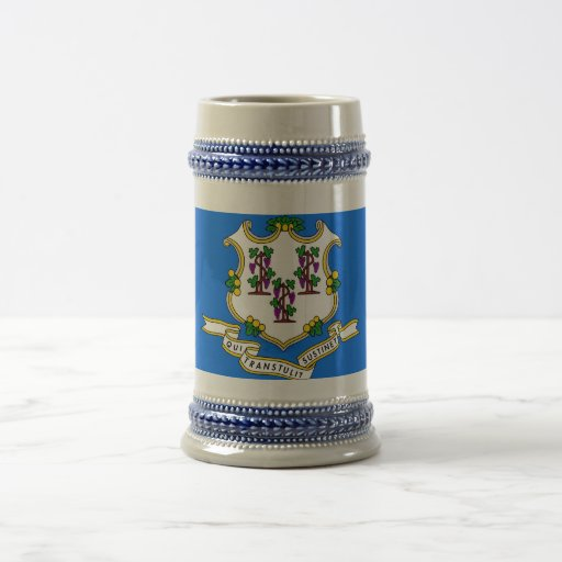 Mug with Flag of  Connecticut State -USA