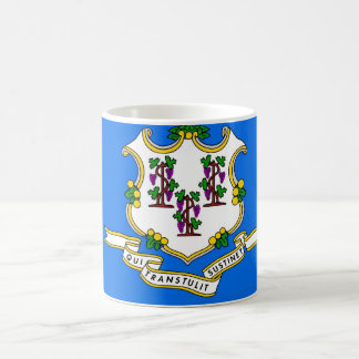 Mug with Flag of  Connecticut State - USA