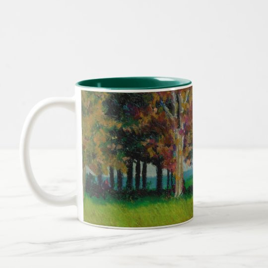 "Mug with ""Home in the Fall"" Design"