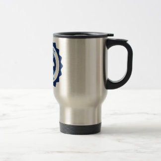 Mug with lid - Blue NormaDoc Logo