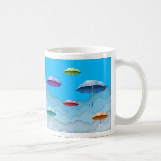 Mug with multicolor umbrellas.