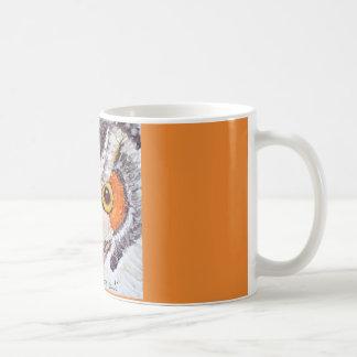 Mug with original owl art and thought