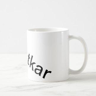 Mug with random Dutch words on it