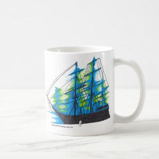 Mug with schooner