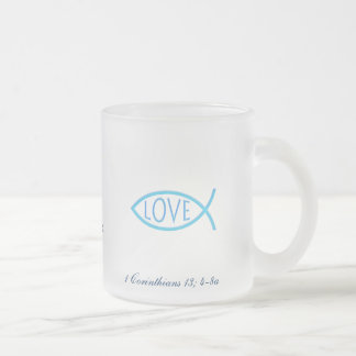 Mug with Scripture - 1 Corinthians 13, 4-8a