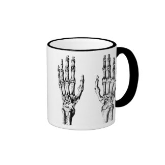 Mug with skeleton hands