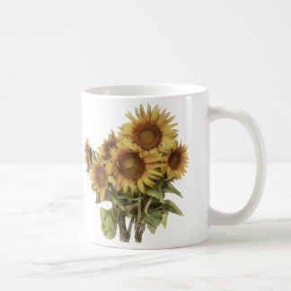 Mug with sunflowers