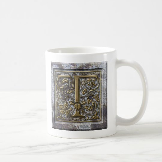 "Mug with the initial ""T"""