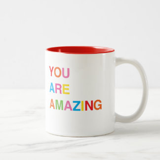 Mug, You Are Amazing, Stocking Stuffer Gift Two-Tone Coffee Mug