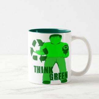MUGGIN' HOOD -- The Green Mugger Two-Tone Mug