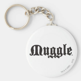 Muggle Basic Round Button Key Ring