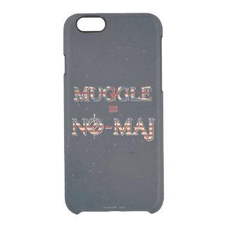 Muggle = No-Maj Clear iPhone 6/6S Case