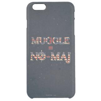 Muggle = No-Maj Clear iPhone 6 Plus Case