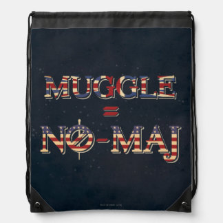Muggle = No-Maj Drawstring Bag