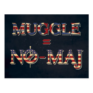 Muggle = No-Maj Postcard