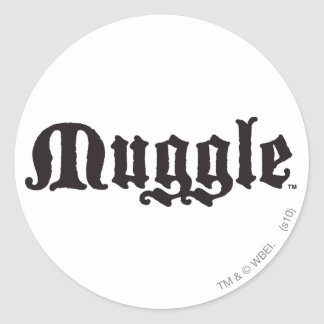 Muggle Round Sticker