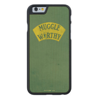 Muggle Worthy Carved Maple iPhone 6 Case