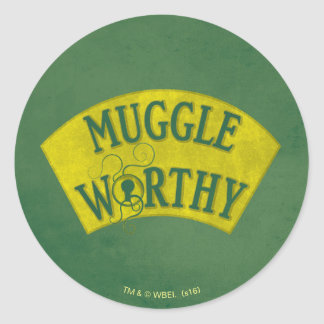 Muggle Worthy Classic Round Sticker