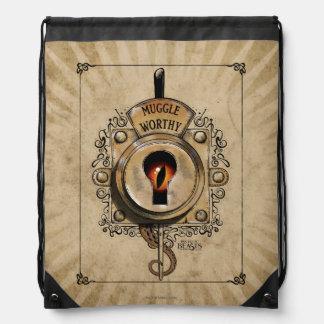 Muggle Worthy Lock With Fantastic Beast Locked In Drawstring Bag