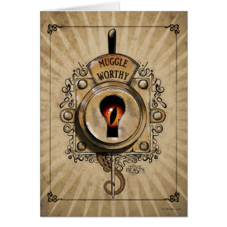 Muggle Worthy Lock With Fantastic Beast Locked In Greeting Card