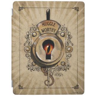 Muggle Worthy Lock With Fantastic Beast Locked In iPad Cover
