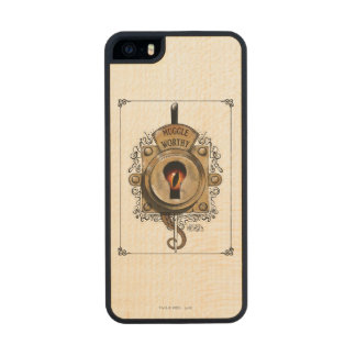 Muggle Worthy Lock With Fantastic Beast Locked In Wood iPhone SE/5/5s Case