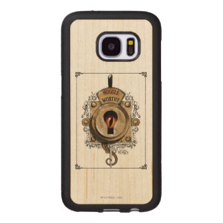 Muggle Worthy Lock With Fantastic Beast Locked In Wood Samsung Galaxy S7 Case