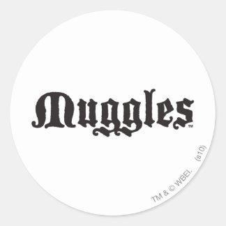 Muggles Round Stickers