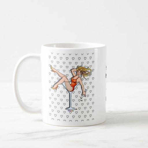 Mugs, Cups - Girl in a Martini Glass, Olivia