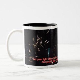 Mugs: Fireworks Two-Tone Coffee Mug