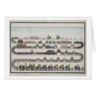 Muharram Ceremony, Faizabad, 1772 from 'The Gentil Card