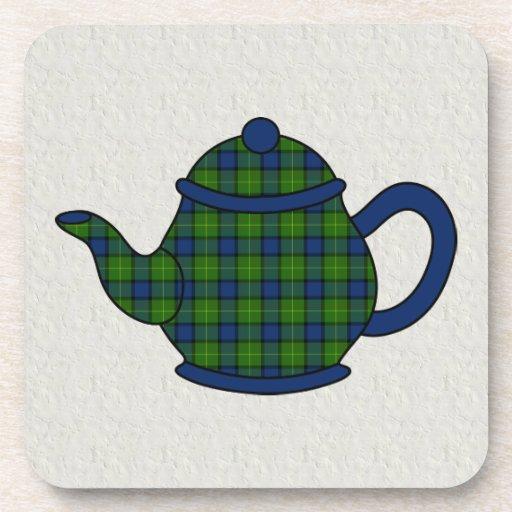 Muir Tartan Plaid Teapot Drink Coasters