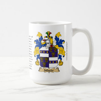 Muir, the Origin, the Meaning and the Crest Mug