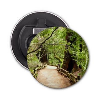 Muir Woods Path II Nature Photography Bottle Opener