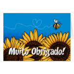 Muito obrigado! (Portuguese Thank you card)