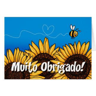 Muito obrigado! (Portuguese Thank you card) Card