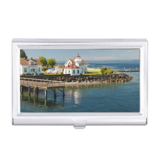 Mukilteo Lighthouse, Mukilteo, Washington, USA Business Card Holder