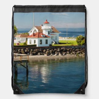 Mukilteo Lighthouse, Mukilteo, Washington, USA Drawstring Bag