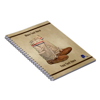 Mukluks On Old Paper Notebook