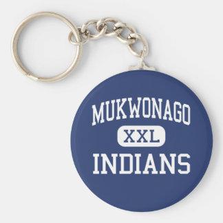 Mukwonago - Indians - High - Mukwonago Wisconsin Basic Round Button Key Ring
